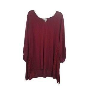 catherines jaquard embossed velvet knit top